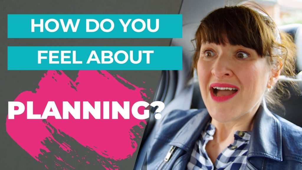 Woman looking fearful about planning. How do you feel about planning?