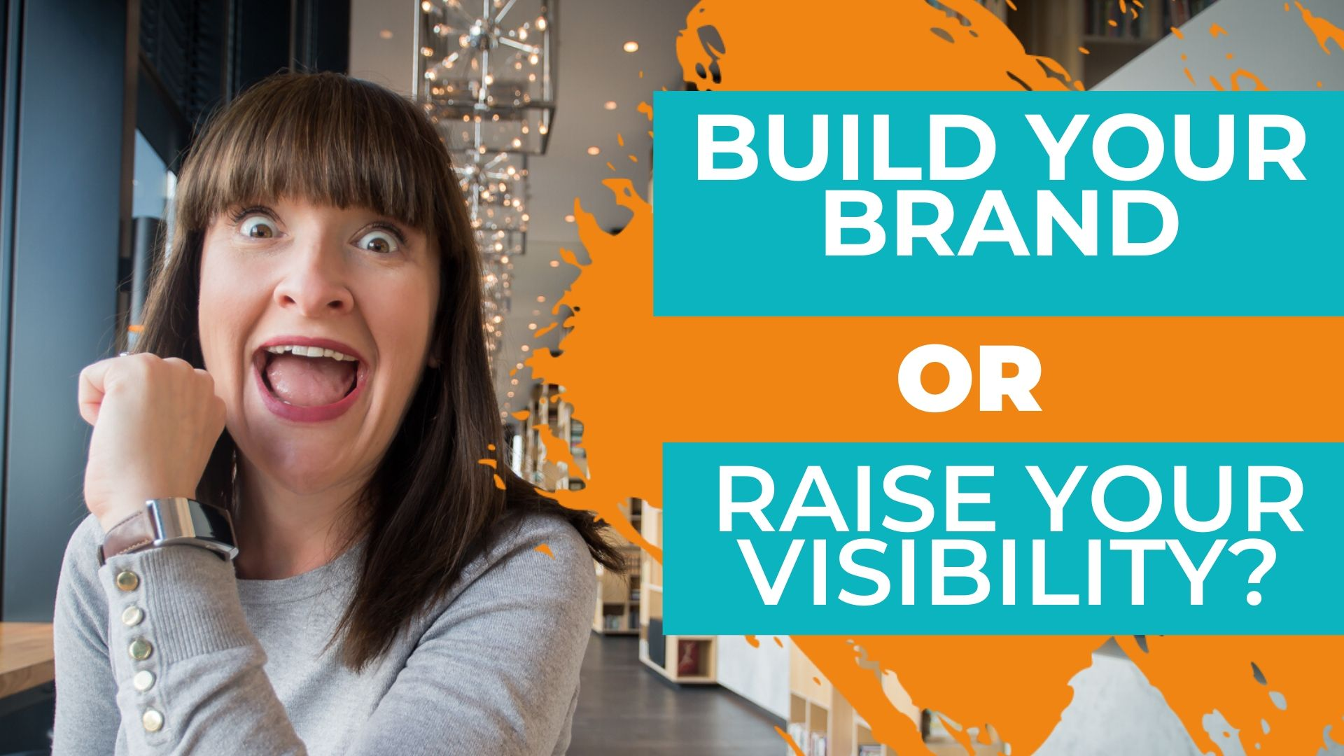 Janine Coombes looking excited about branding building or visibility raising