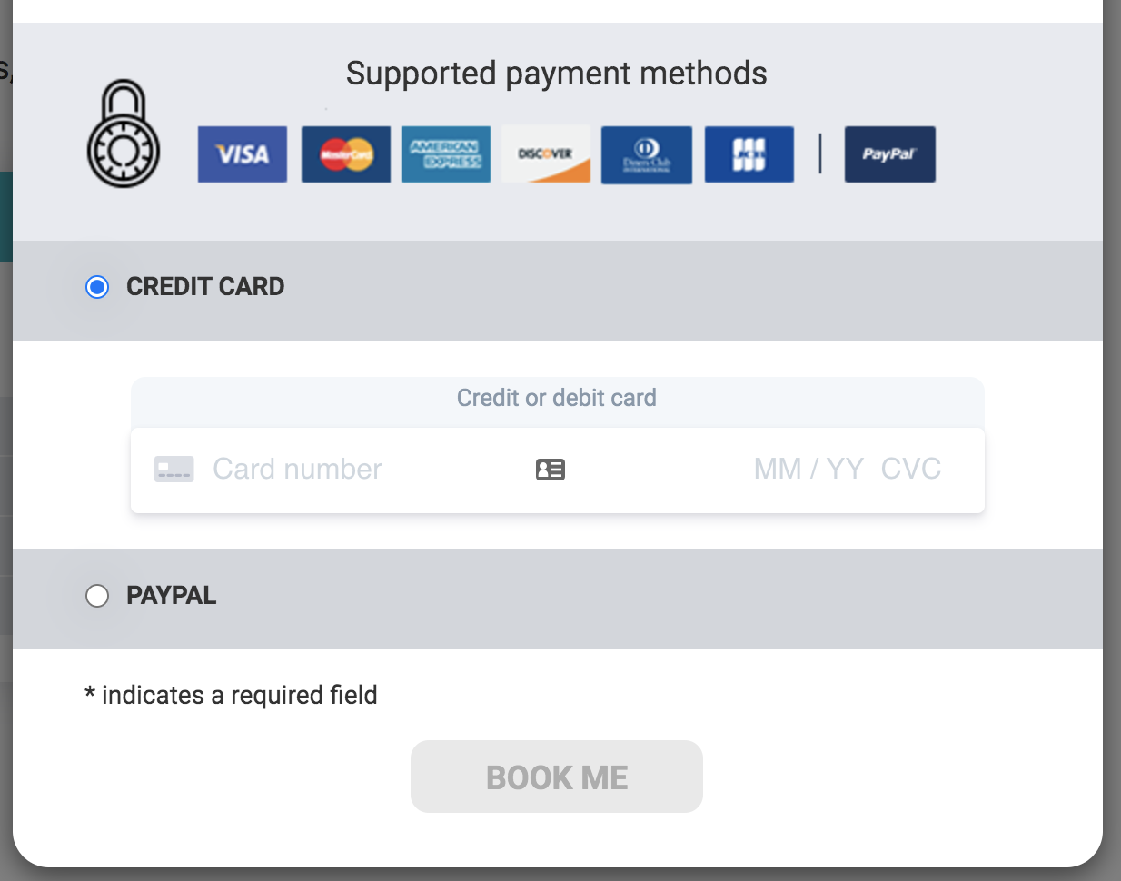 Payment methods that are available on Janine's Untangling call inc. PayPal and credit cards